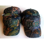 Camouflage Police Hats - Adjustable Sizes