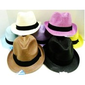 Colorful Wovens Fedora Hats - Bright Colors Wholesale Bulk