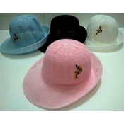 Ladies Mesh Derby Hats - Assorted