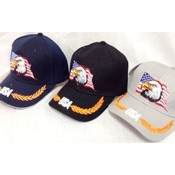 American Flag With Eagle Head Baseball Cap