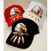 Wholesale Baseball Hats Eagle Head with Feathers