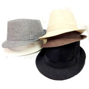 Solid Color Fedora Hats - Assorted Colors