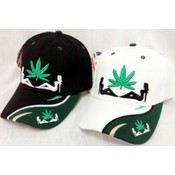 Wholesale Basrball Cap/ Hat Marijuana Leaf w/ Ladies