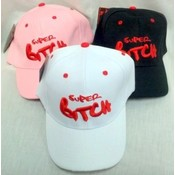 Wholesale Super Bitch Sign Baseball Cap/ Hat