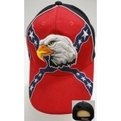Wholesale Baseball Hats Rebel Flag with Eagle Head