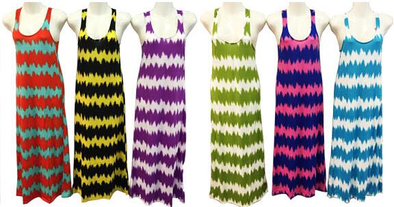 Ladies Long Cotton DRESS Tie Dye Print [1909495]