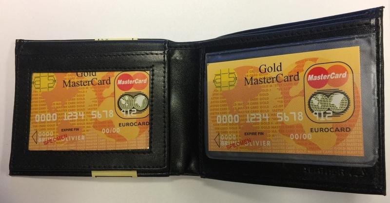 Men's LEATHER Bi-Fold Wallet - Black (993089)