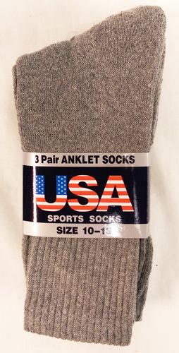 Men's Long Gray Socks Size 10-13 [1859696]