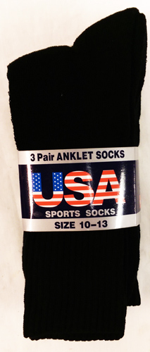 Men's Black ANKLET Socks (1859697)