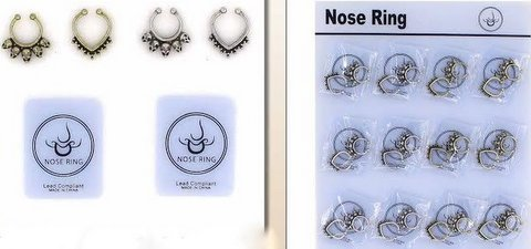 Assorted Septum Nose Rings - 2 pack [1982973]