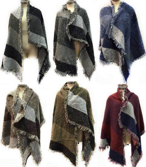 Winter Wrap Poncho Furry w/Multi-Color PATCHES [1932269]
