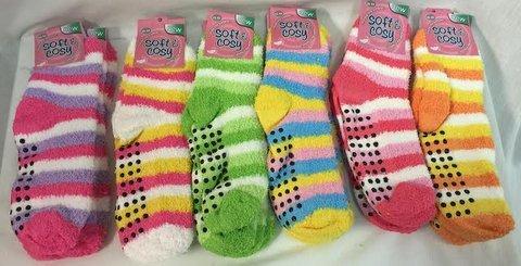 Winter Fuzzy Striped Socks For Women [1940490]