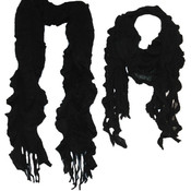 Marc Gold Black Crochet Scarf