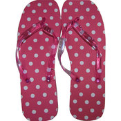 Marc Gold Ladies Flip Flop Pink Polka Dot Print -