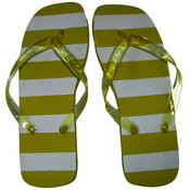 Marc Gold Ladies Flip Flop Yellow Stripe - SM
