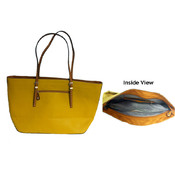Marc Gold Leather Tote-Mustard