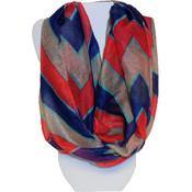 Marc Gold Bold Tri-Color Chevron Scarf