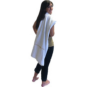 Marc Gold Luxury White Velour Beach Towel