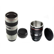 Black 11 oz. & White 16 oz. Camera Lens Coffee Mugs Wholesale Bulk