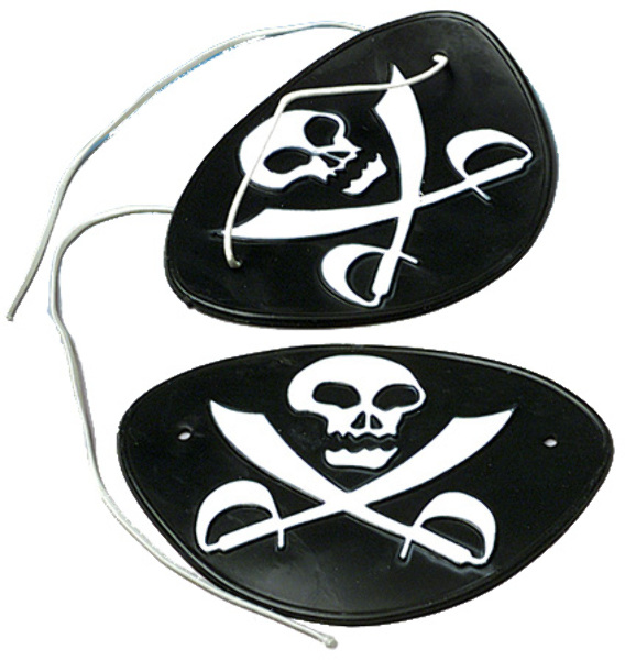 SKULL and Crossed Sword Pirate Eye Patches (1903408)