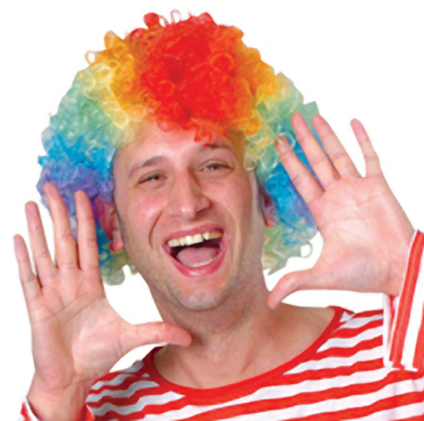 Rainbow Curly Costume Clown WIG (1904102)