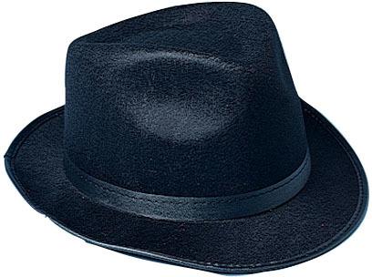 Black Felt Fedora Hat [1776823]