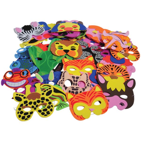 Foam Mask Assortment - 60/Pack [2285378]