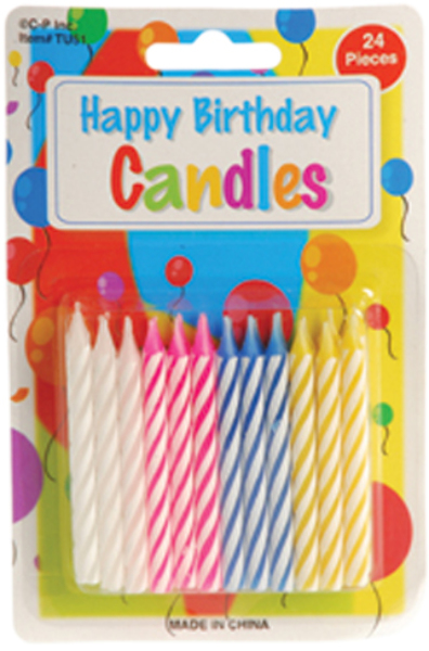 Birthday Cake CANDLEs - 24 Pack (1905424)