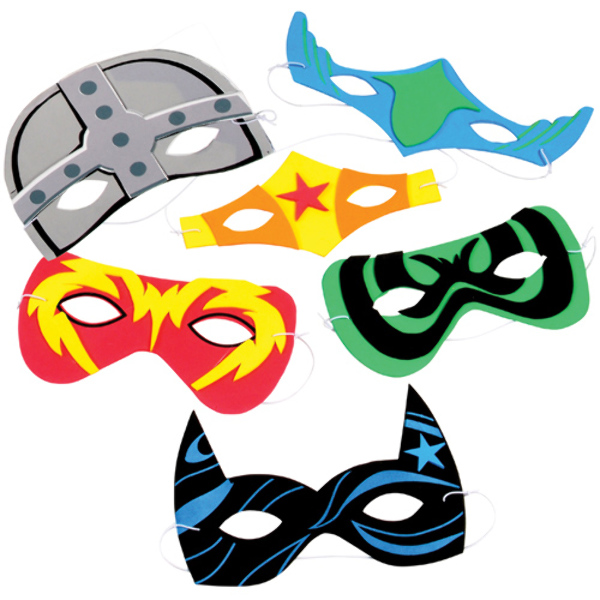 Foam Superhero Masks [1939493]
