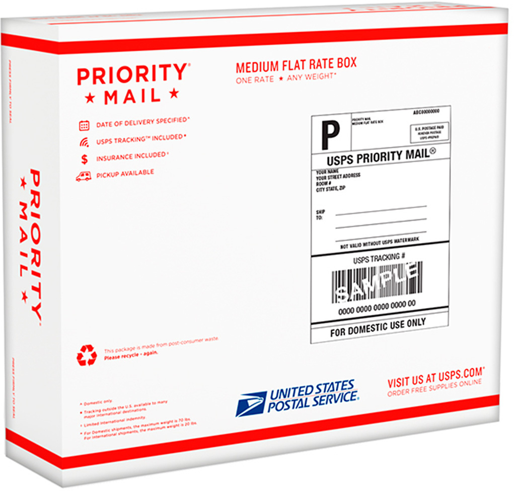 photos of usps medium flat rate box