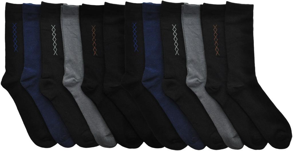 Men's Cotton Solid & Argyle DRESS Socks - Size 10-13 [2132520]