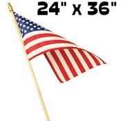 Concord Hemmed 24&quot;x36&quot; Polycotton U.S. Stick Flag