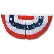 Polycotton Full Fan Flag With Stars
