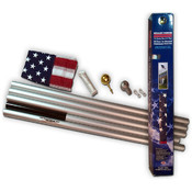 20&#39; U.S. Flag  w/ Aluminum In-Ground Pole Kit