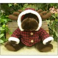 "11"" Sit. Moose w/Red Plaid Jacket"