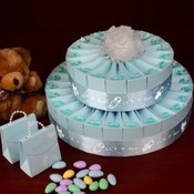 2 Tier Baby Shower Favor Cake Kit - It's a Boy