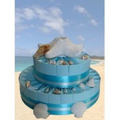 Beach Wedding Favor Cake-Unassembled