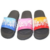 Women's Printed Rubber Flip Flop Sandals 5-10
