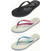 Ladies Flip Flop Sandals Solid Colors Sizes 5-10