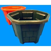 Plastic Garden Flower Pot 8' 2 Colors Green Clay Wholesale Bulk