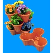 3 Way 5 Inch Stackable Plastic Garden Flower Pot Wholesale Bulk