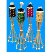 12.5 Inch Bamboo Table Tiki Torch Wholesale Bulk
