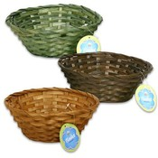 Bamboo Basket Round 5 Pieces