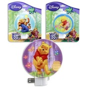 Disney Winnie the Pooh Night Lights- 3 Assorted Wholesale Bulk