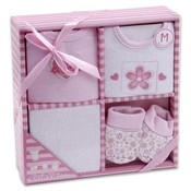 Baby Gift Set 4 Piece Floral Heart