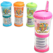 Cookie Dunkers Cup with Attached Container - Assorted Colors Wholesale Bulk
