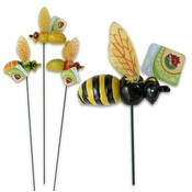"Flying Bee Stake, 19.5"" 4 Assorted"