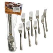Silver Chrome Steel Fork, 8 Piece