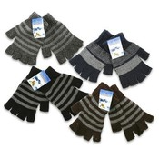1 Pair Kids Fingerless Astd Gloves