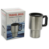 5.75' Stainless Steel Travel Mug with Lid Wholesale Bulk